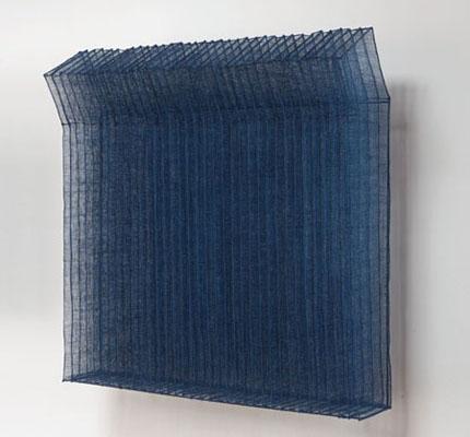 indigo wall sculpture