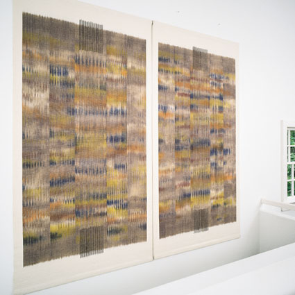 Kasuri Panels by Jun Tomita, photo by Tom Grotta