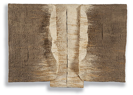 LUNE DE MIEL 1 sisal 55&quot; x 78&quot; x 8&quot;, 1986