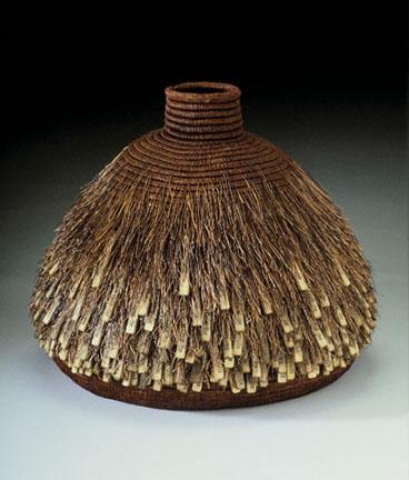 GIles Hairy Round Basket