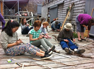 Basketmaking at Haystack with Hisako Sekijima 2013