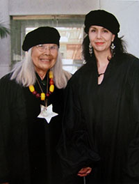 Julia Parker and the author Deborah Valoma
