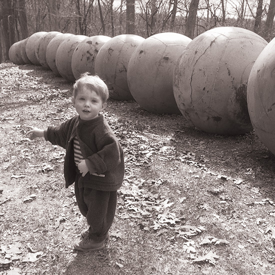 Carter at the Laumeier Sculpture Park. Photo by Tom Grotta
