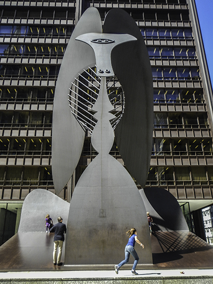 Untitled Sculpture by Pablo Picasso in Daley Plaza, Photo by Tom grotta