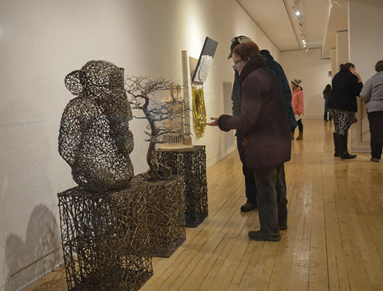 "attendees viewing ""Same Difference"" by John McQueen"