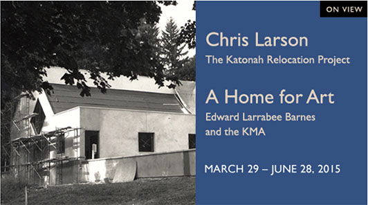 Chris Larson The Katonah Relocation Project exhibition poster