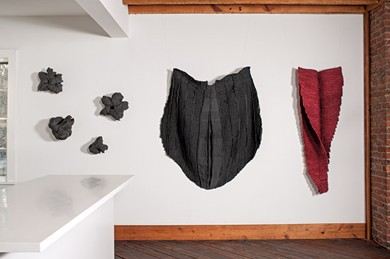 Frederica Luzzi Black and Red Installation, Influence and Evolution: Fiber Art…then and now