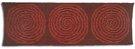 52r WARP IKAT SPIRAL, Ed Rossbach, 3' X 9', 1962