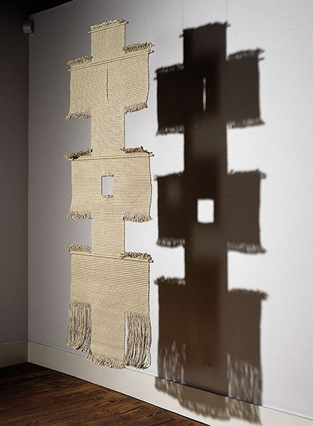 "21t PATH II, Lenore Tawney, linen 74"" x 30"", ca. 1965-66, photo by tom grotta"