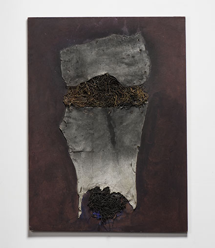 "2ws Untitled, Wojciech Sadley , mixed media, 32"" x 24"", 1968, photo by Tom Grotta"