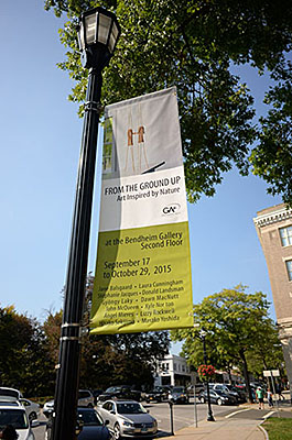 From The Ground Up Banner Bendheim Gallery . Photo by Tom Grotta