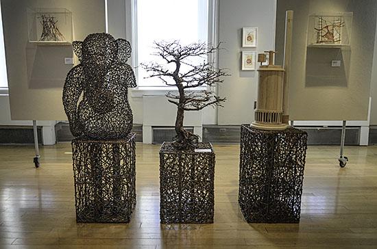 From the Ground Up; Greenwich Art Council, John McQueen, Jane Balsgaard, Photo by Tom Grotta