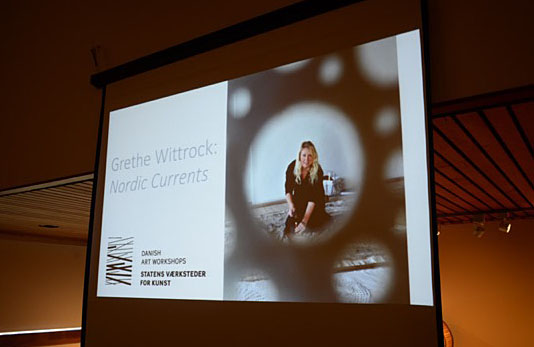Grethe Wittrock Fuller Exhibition Lecture. Photo by Tom Grotta
