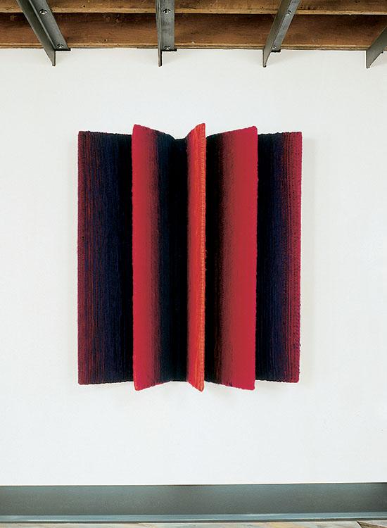 "627mr PapelionIidae, Mariette Rousseau-Vermette wool, steel, 54"" x 54"" x 16"", 2000"