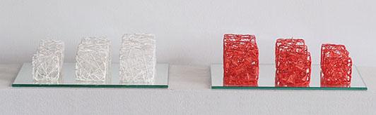 Naomi Kobayashi Red & White Cubes