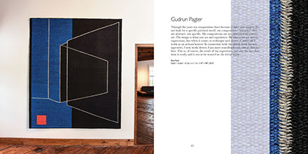 Gudrun Pagter catalog spread from artboom Artboom: Celebrating Artists Mid-Century, Mid-Career