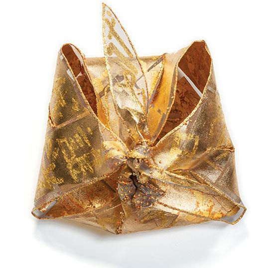 Kiyomi Iwata Gold Mesh Sculpture