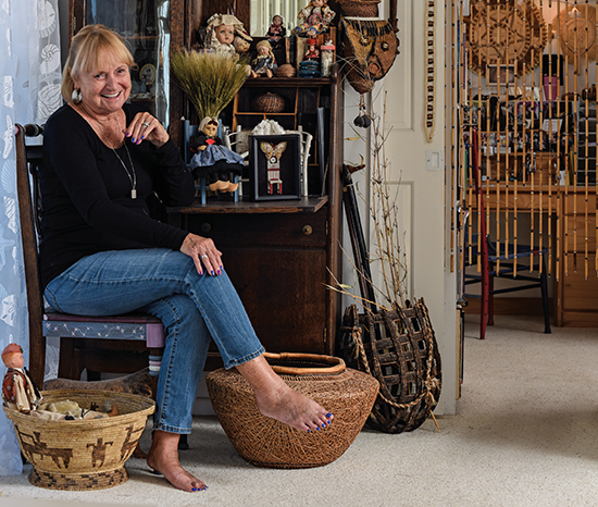 Judy Mulford Portrait in her studio. Photo by Tom Grotta