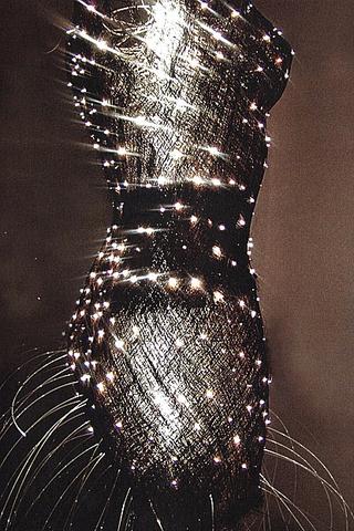 Anda Klancic FiberOptic, textile sculpture