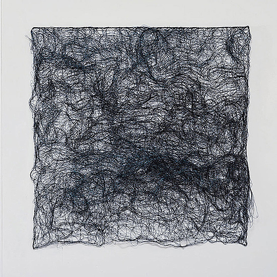 "Currents, Nancy Koenigsberg, coated copper wire, 29"" x 29"" , 2016"
