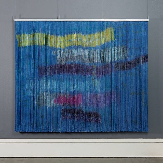 , Biagga (Sea Wind), Ulla-Maija Vikman, painted viscose and linen, 67 x 71 in, 2010