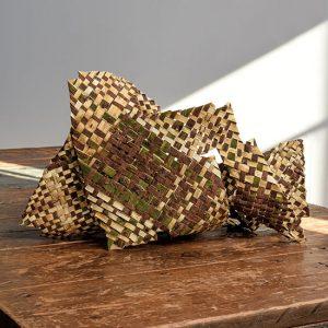 Capricious Plaiting, Kazue Honma, paper mulberry plaiting, 56 x 43 x 20cm, 2016