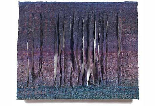"Palisades, Anna Urbanowicz-Krowacka, wool and sisal, 55"" x 70"", 1992"