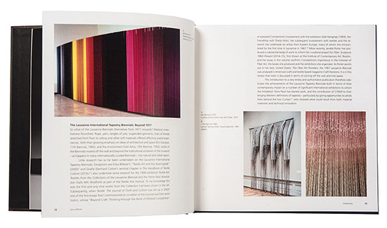 From Tapestry To Fiber Art The Laussane Biennials 1962-1995 Bokk Spread