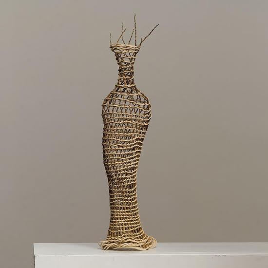 "Praise, Dawn MacNutt, inflorescens and reed, 19""x 4""x 5"", 2007. Photo by Tom Grotta"