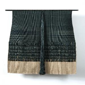 """Amazonas, Carolina Yrarrázaval, yute, jute, raffia and silk, 35.5"""" x 39.25"""", 2017"""