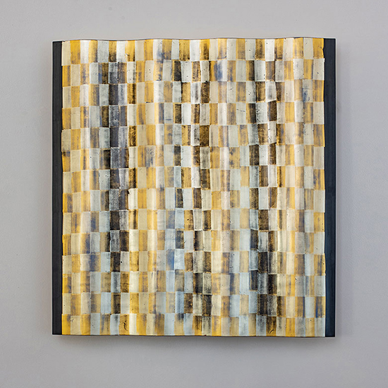 Agneta Hobin Gold Wood Relief