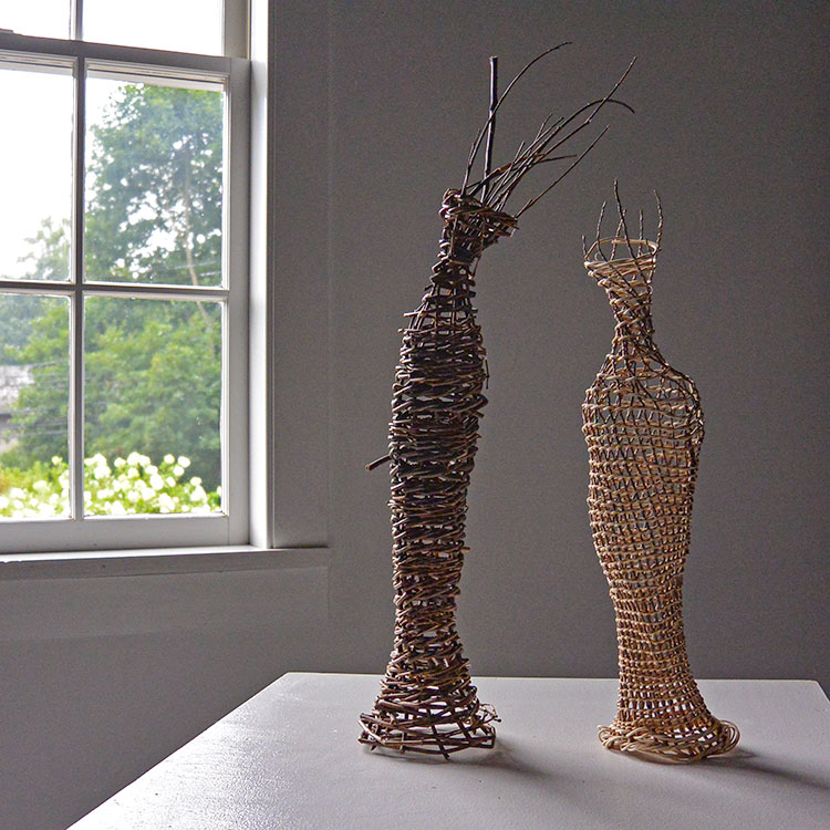 Figurative twig sculptures by Dawn MacNutt