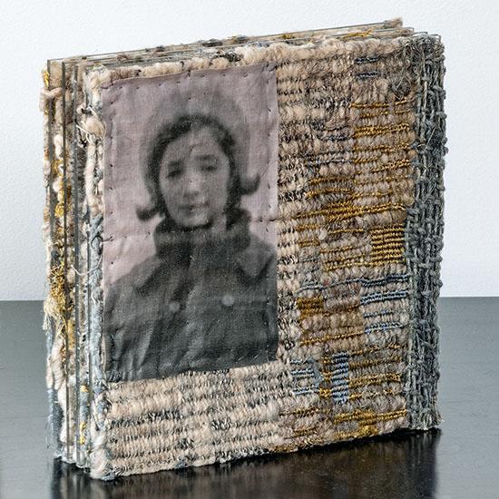 "Aleksandra Stoyanov 9as Reflection wool, plexiglas 8"" x 8.125"" x 3.375, 2004 photo by Tom Grotta"