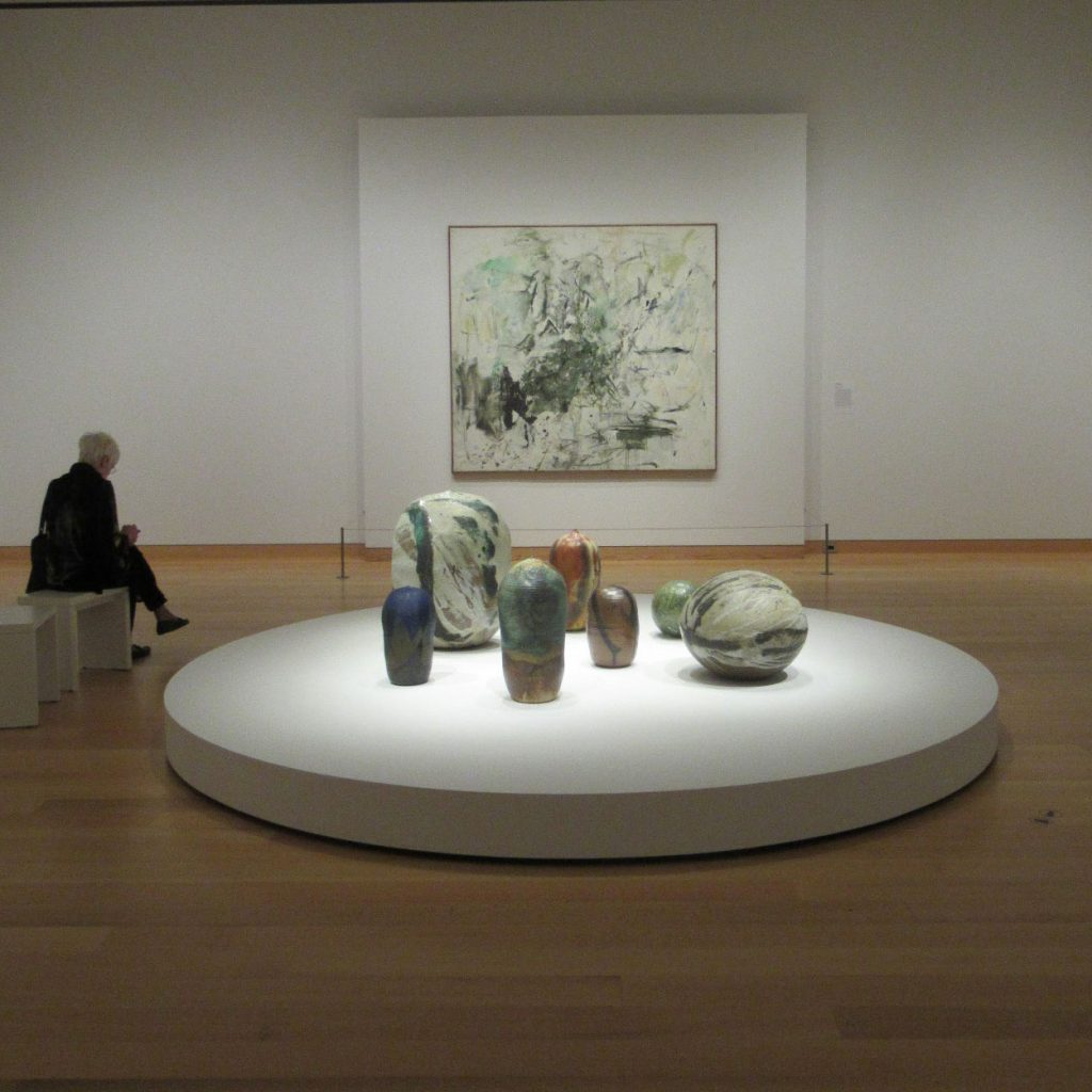 Installation View of Toshiko Takaezu; Pathmakers: Women in Art, Craft and Design, Midcentury and Today and Women Take the Floor at the MFA Boston