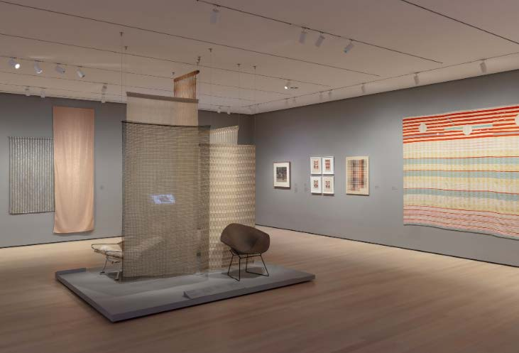 "Installation view of ""Taking a Thread for a Walk"", The Museum of Modern Art, New York  2019"