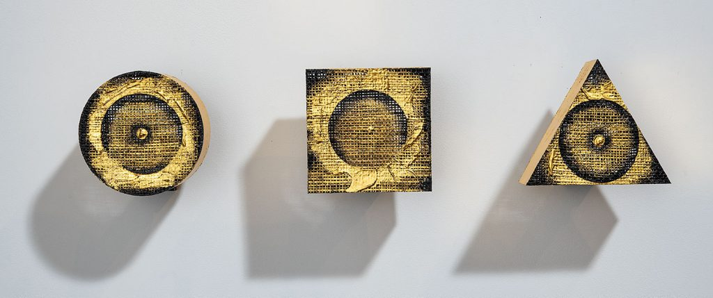 Gold Leaf wall sculptures by Chang Yeonsoon