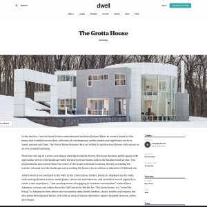Dwell featured the Grotta House online