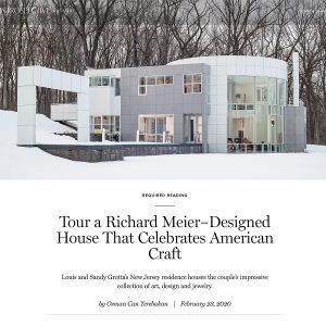 1st dibs Introspective Magazine Article Tour a Richard Meier-Designed House That celebrates American Craft by Osman Can Yerebakan