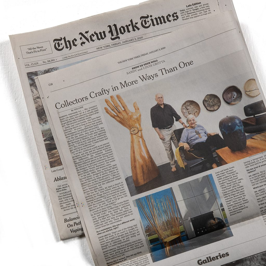 Collectors Crafty in More Ways Than One. New York Times Article By Ted Loos
