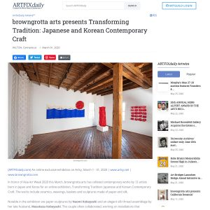 browngrotta arts presents Transforming Tradition: Japanese and Korean Contemporary Craft in Artfix Daily
