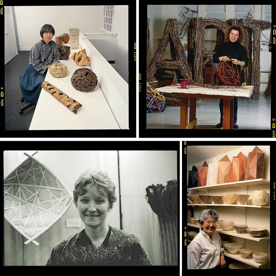 Portraits of Hisako Sekijima, Gyöngy Laky, Mary Merkel-Hess and Kay Sekimachi