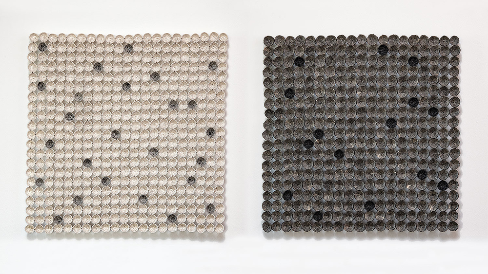 Birgit Birkkjær: Mini Basket Symphony in Black & White, 2019