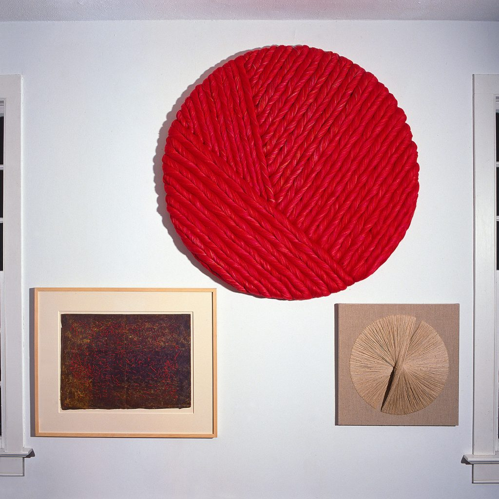 Three works by Sheila Hicks from our 1996 exhibition: Sheila Hicks: Joined by seven artists from Japan