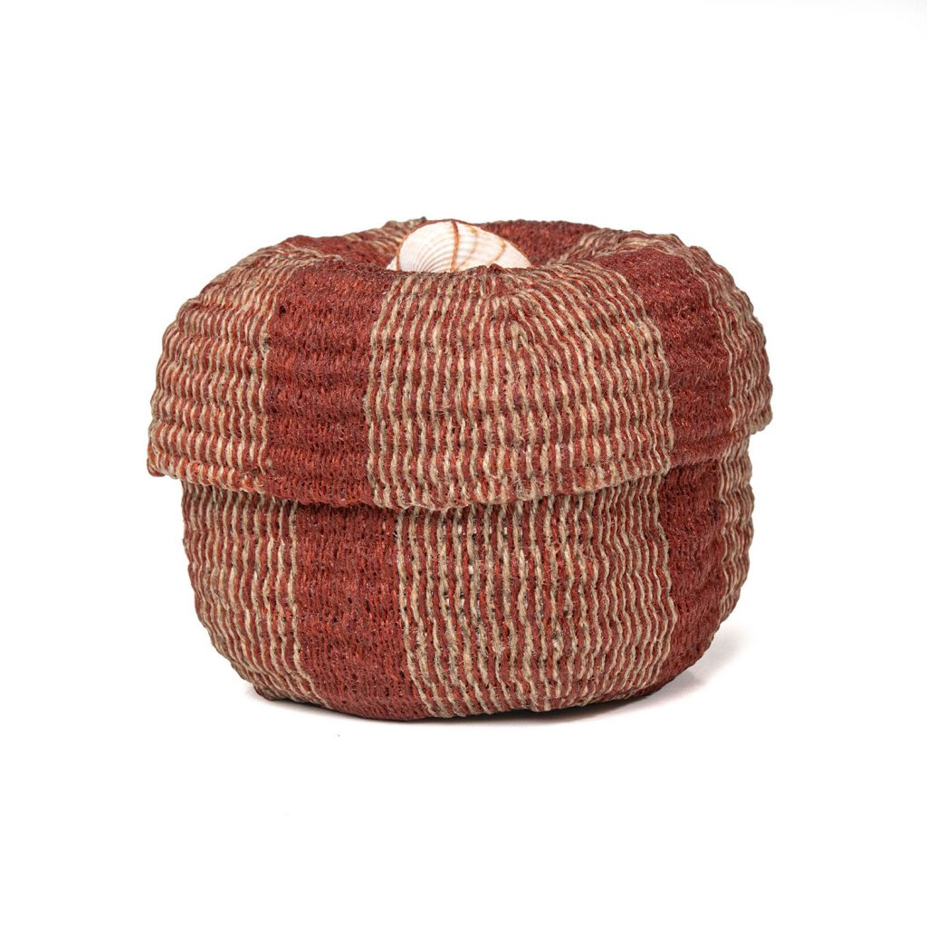 Small Red Basket by Danish basketmaker Birigit Birkkjaer