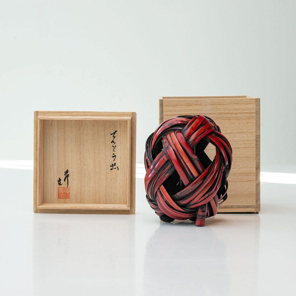 Japanese Bamboo Vase by Jiro Yonezawa