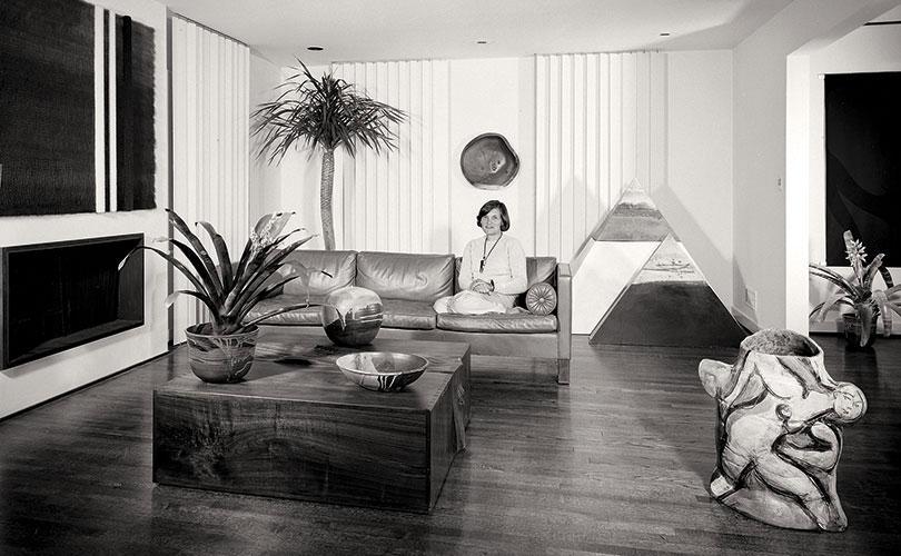 Sandra Grotta in her Maplewood, NJ living room