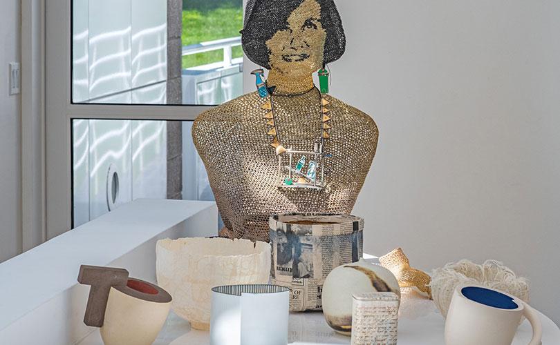 Sandy Grotta's bust by Norma Minkowitz
