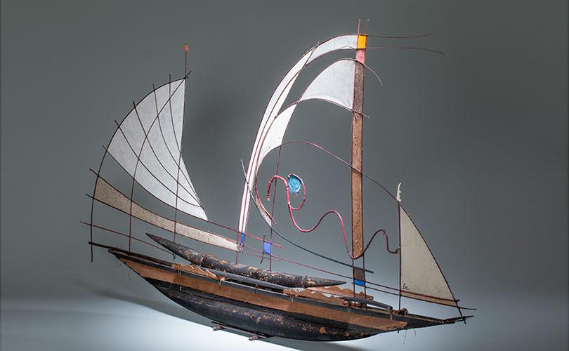 Polynesian Boat by Jane Balsgaard