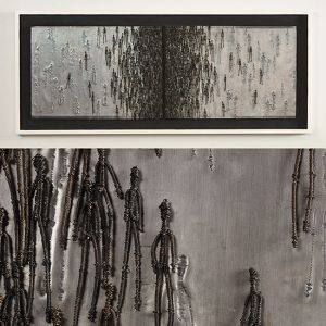 """Lead Relief Mary Giles lead, iron, wood 23.75"""" x 56 .75"""""""" x 2"""", 2011"""